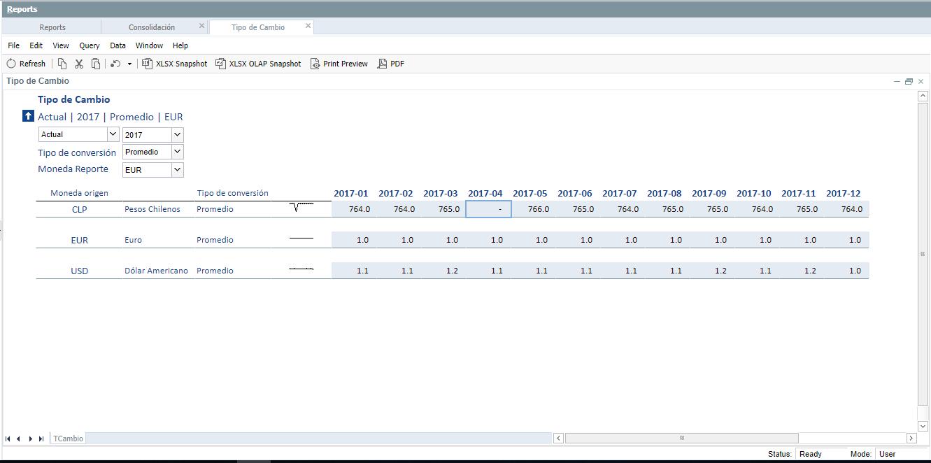 Tasas de Cambio Consolidación Financiera - Consolidación de Estados Financieros software
